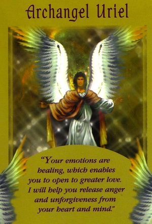 Archangel Uriel Angel Card