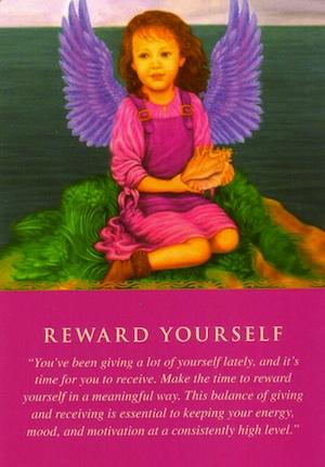 Angel Card: Reward-Yourself