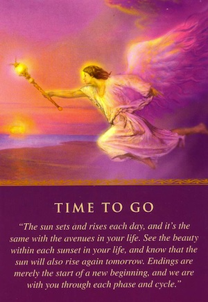 angel card: time-to-go